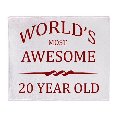 World's Most Awesome 20 Year Old Throw Blanket