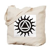 Canvas Tote Bag Sunshine Celtic Triad Design