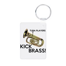 Tuba Players Kick Brass Keychains