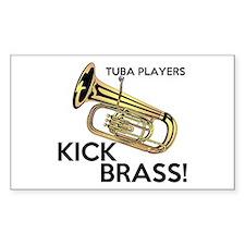 Tuba Players Kick Brass Decal