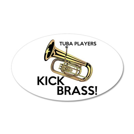 Tuba Players Kick Brass Wall Decal