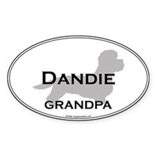Dandie GRANDPA Oval Decal