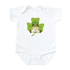Irish Baby Shamrock Luck Infant Bodysuit