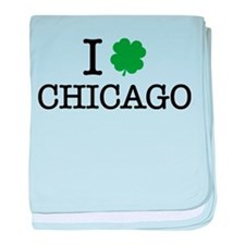 I Shamrock Chicago baby blanket