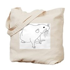 Rat Outline Tote Bag