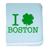 I Shamrock Boston baby blanket