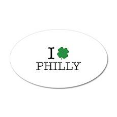 I Shamrock Philly 38.5 x 24.5 Oval Wall Peel