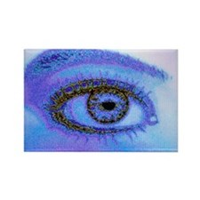 of a human eye - Rectangle Magnet (10 pk)