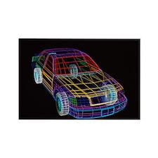 CAD car design - Rectangle Magnet (10 pk)