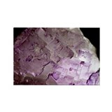 Fluorite crystals - Rectangle Magnet (10 pk)