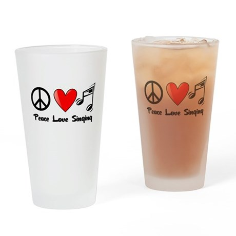 Peace, Love, Singing Drinking Glass