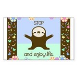 Happy And Cute Sloth Stickers