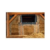 Straw bale house - Rectangle Magnet (10 pk)