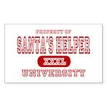 Santa's Helper University Rectangle Sticker
