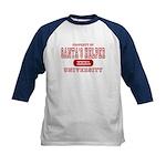 Santa's Helper University Kids Baseball Jersey