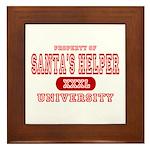 Santa's Helper University Framed Tile