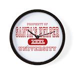 Santa's Helper University Wall Clock