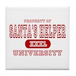 Santa's Helper University Tile Coaster