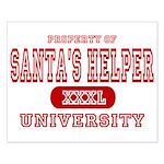 Santa's Helper University Small Poster
