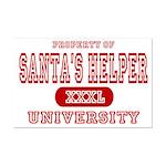Santa's Helper University Mini Poster Print