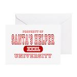 Santa's Helper University Greeting Cards (Package