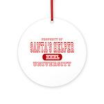 Santa's Helper University Ornament (Round)