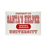 Santa's Helper University Rectangle Magnet