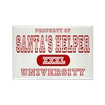 Santa's Helper University Rectangle Magnet (10 pac