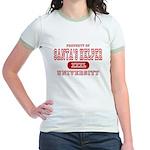 Santa's Helper University Jr. Ringer T-Shirt
