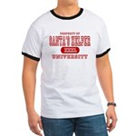 Santa's Helper University Ringer T
