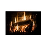 n fire - Rectangle Magnet (100 pk)