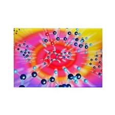 Ecstasy drug molecule - Rectangle Magnet (100 pk)