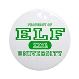 Elf University Ornament (Round)