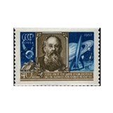 on a Soviet stamp - Rectangle Magnet (100 pk)