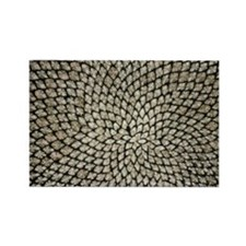 Sunflower seed head - Rectangle Magnet (100 pk)