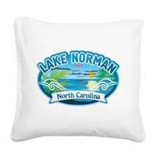 Lake Norman Waterview Square Canvas Pillow