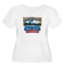 Lake Norman Waterfront Logo Plus Size T-Shirt
