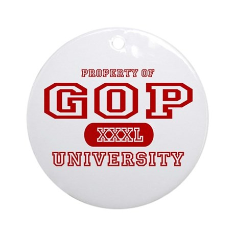 GOP University Ornament (Round)