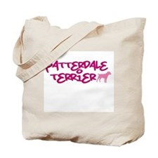 "Patterdale Terrier ""Pink"" Tote Bag"