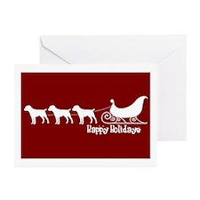 """Patterdale Terrier """"Sleigh"""" Greeting Cards (Packag"""