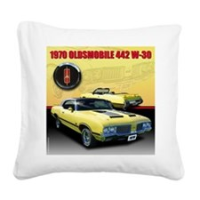 Cute 1970s Square Canvas Pillow