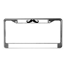 Mustache License Plate Frame