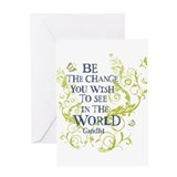 Cute Gandhi quote Greeting Card