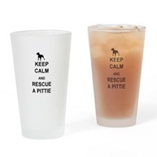 Rescue a Pittie Drinking Glass