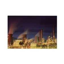 Petrochemical plant - Rectangle Magnet (100 pk)