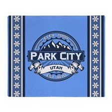 Park City Blue Throw Blanket