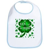 Luck of the Irish with shamrocks Bib