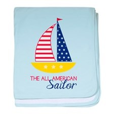 All American Sailor baby blanket