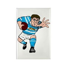Argentina Rugby Forward Rectangle Magnet (10 pack)
