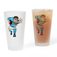 Argentina Rugby Forward Drinking Glass